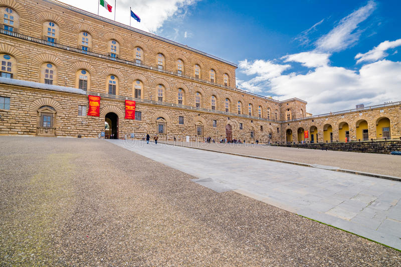 The sixteenth century walls. Of Pitti Palace in Florence, in Italy, residence of the grand-dukes of Tuscany and later of the King of Italy royalty free stock photography