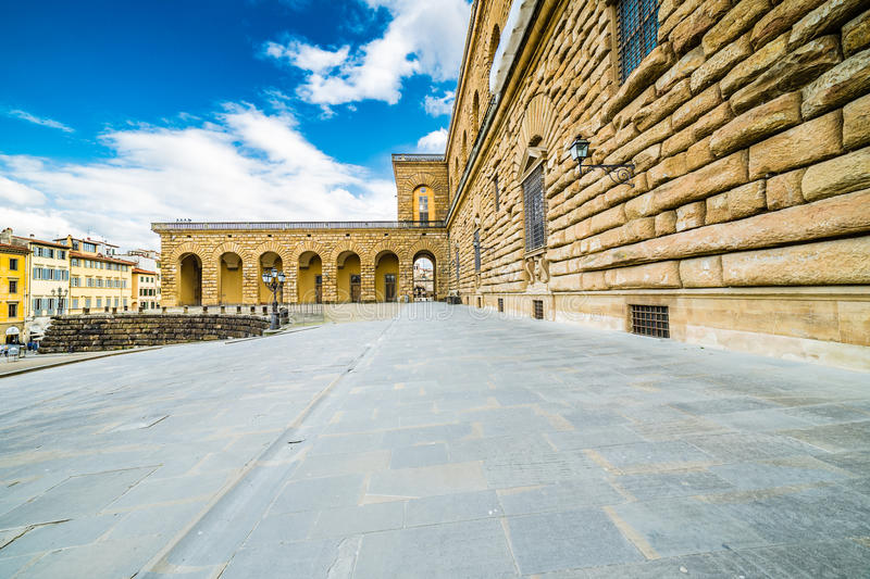 The sixteenth century walls. Of Pitti Palace in Florence, in Italy, residence of the grand-dukes of Tuscany and later of the King of Italy royalty free stock image