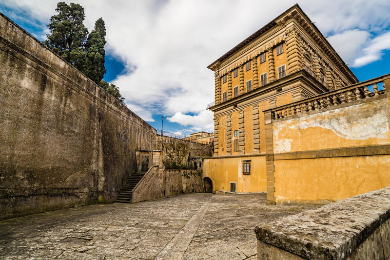 The sixteenth century walls. Of Pitti Palace in Florence, in Italy, residence of the grand-dukes of Tuscany and later of the King of Italy royalty free stock photos