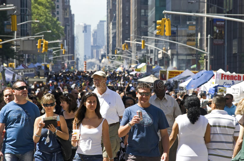 Download Sixth Ave Crowd editorial stock image. Image of avenue - 15449539