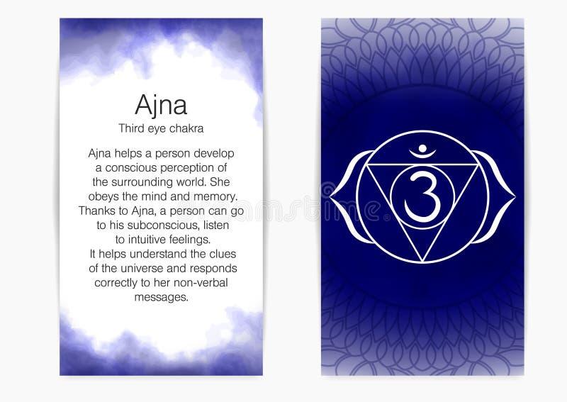 Sixth, third eye chakra - Ajna. stock image