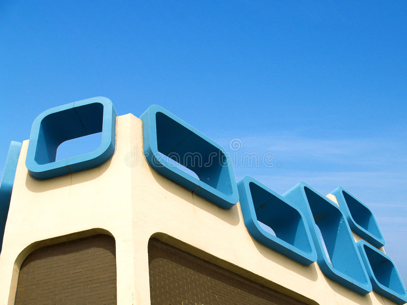 Sixties Architecture royalty free stock images