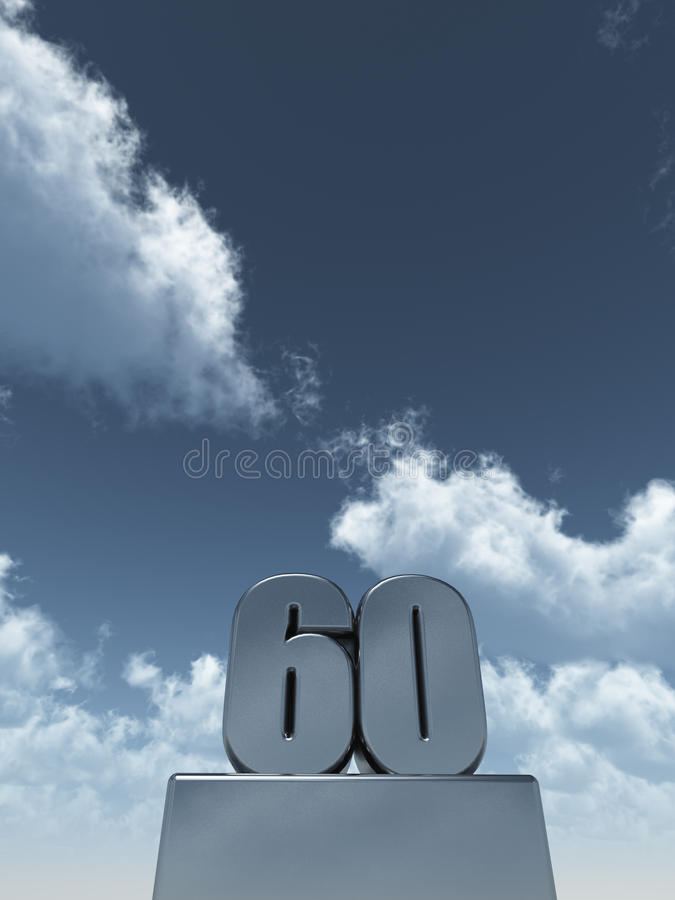 Sixty vector illustration