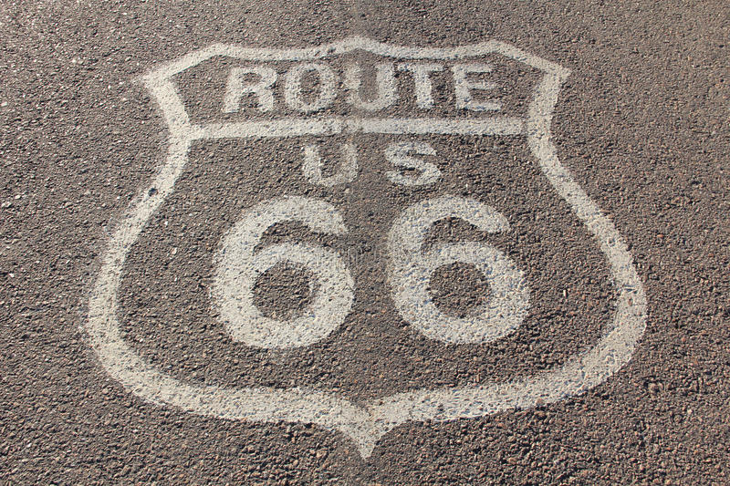 Sixty six road. Asphalt road with number sixty six royalty free stock photos
