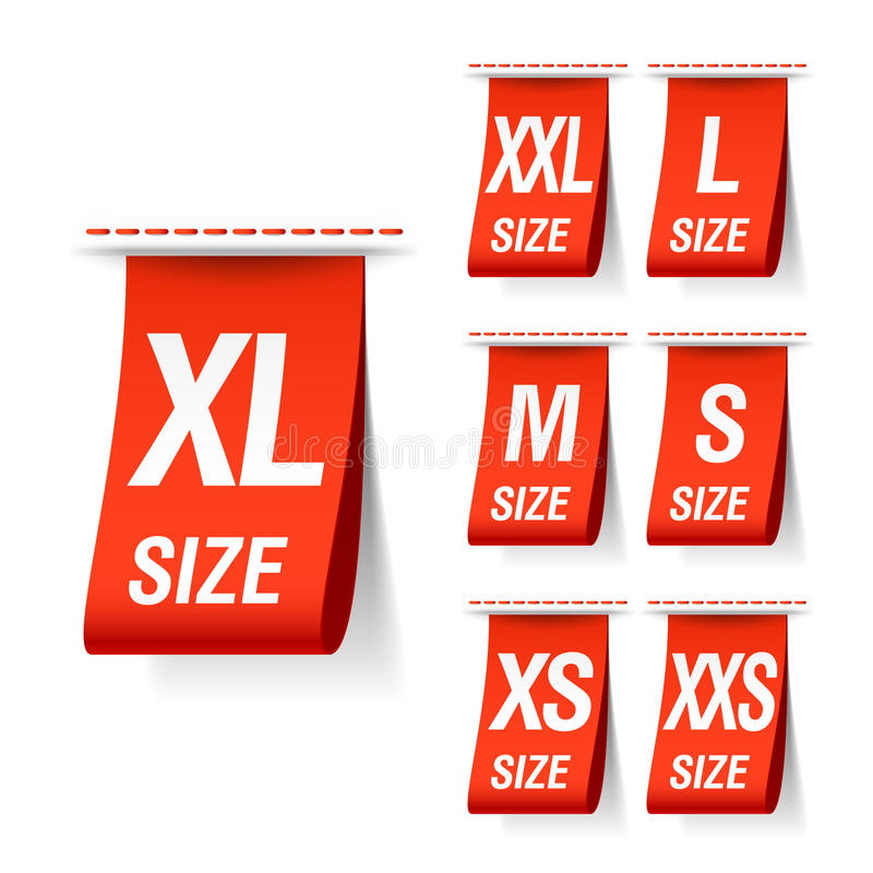 Download Size clothing labels stock vector. Illustration of clothe - 22901137
