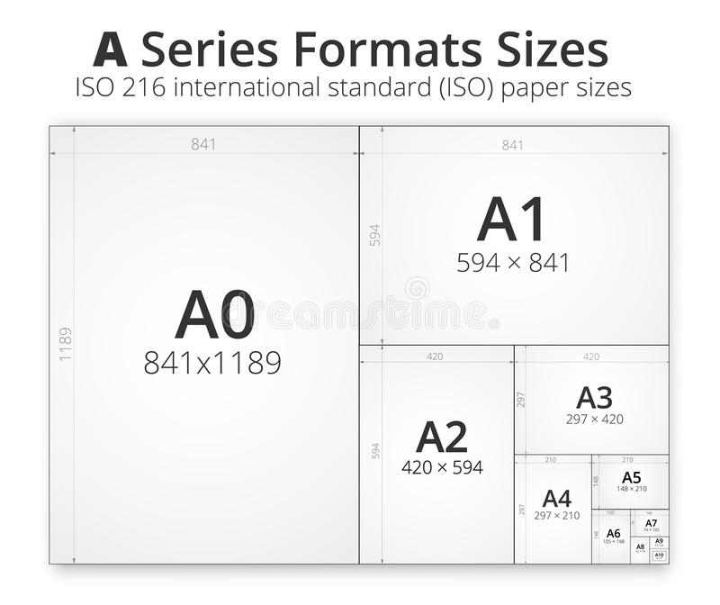 Size of format a paper sheets stock vector illustration of download size of format a paper sheets stock vector illustration of collection blueprint malvernweather Images
