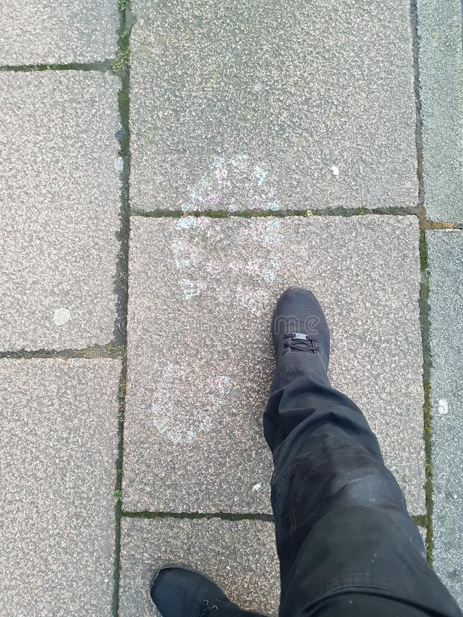 Size of them feet royalty free stock photography