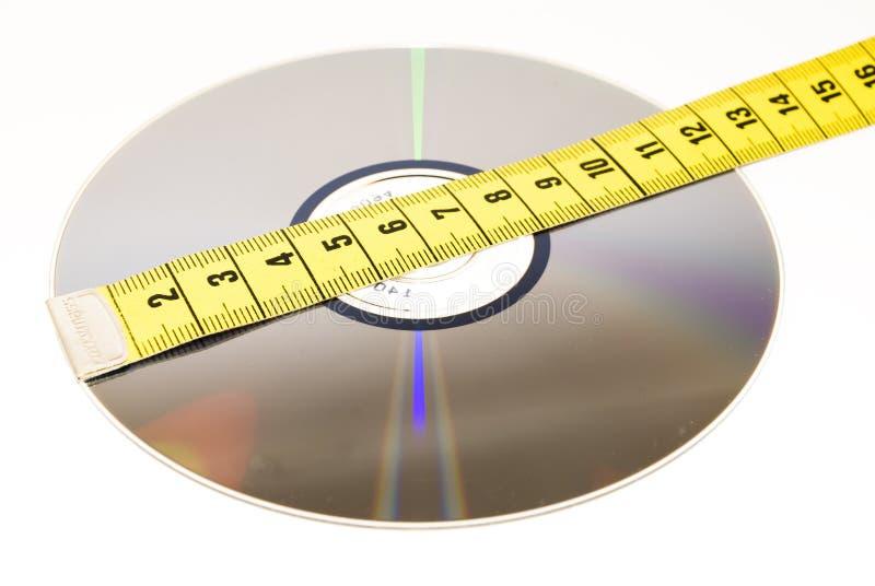 Sizing data storage royalty free stock photos
