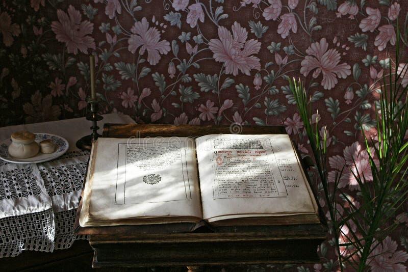 Sizran, Russia, il 10 febbraio 2005: Museo, interno del salone mercantile del ` s fotografie stock