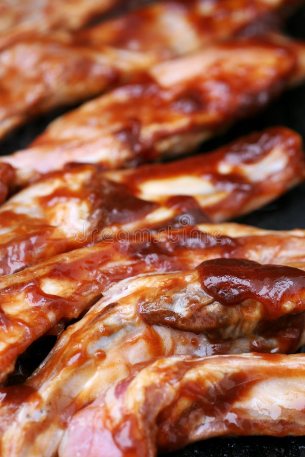 Sizzling Barbecue ribs stock photography