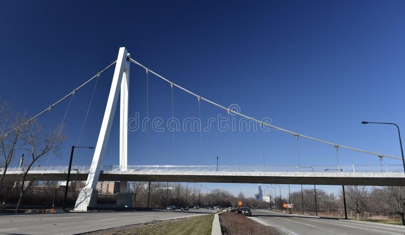 Själv-ankrad upphängningbro arkivfoton