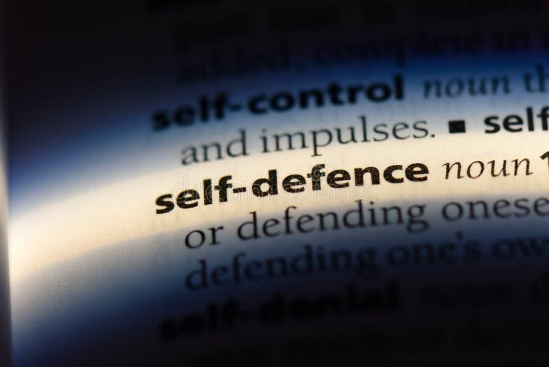 Själv - försvar arkivbild