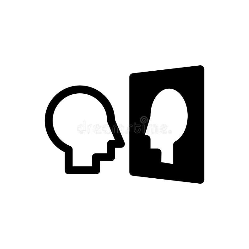 Själv - medvetenhetsymbol, vektorillustration royaltyfri illustrationer
