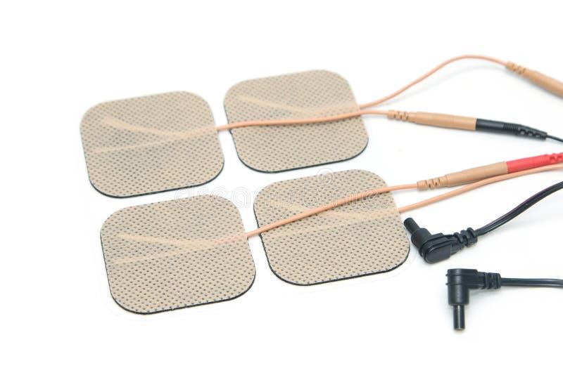 Självhäftande elektrod, för bruk med tioenheten royaltyfria foton