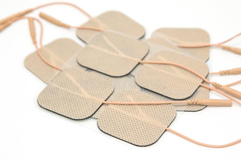 Självhäftande elektrod, för bruk med tioenheten arkivfoton