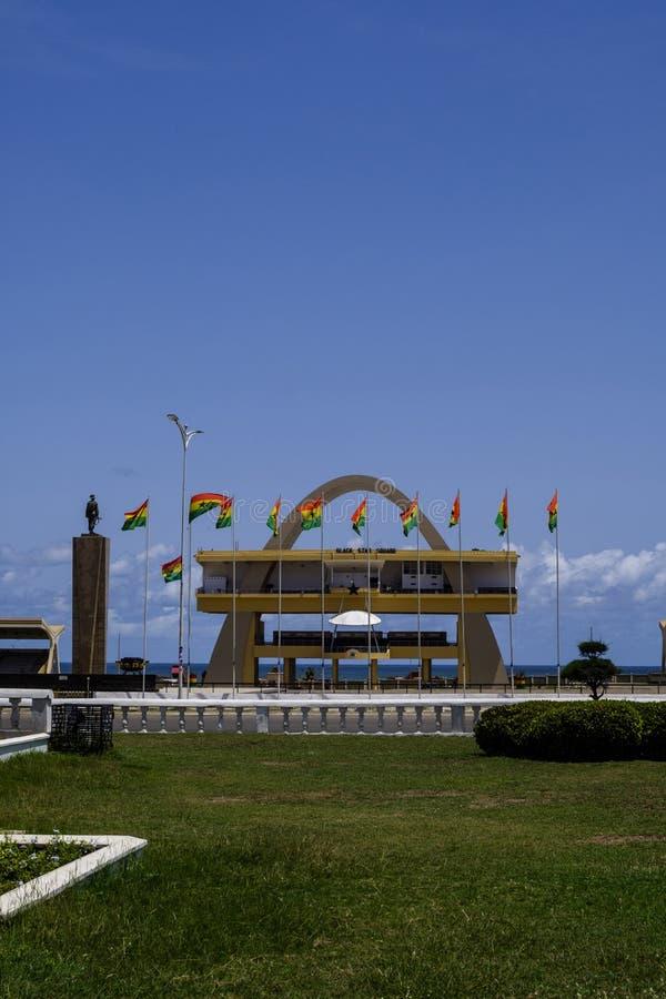 Självständighet ärke- Accra fotografering för bildbyråer