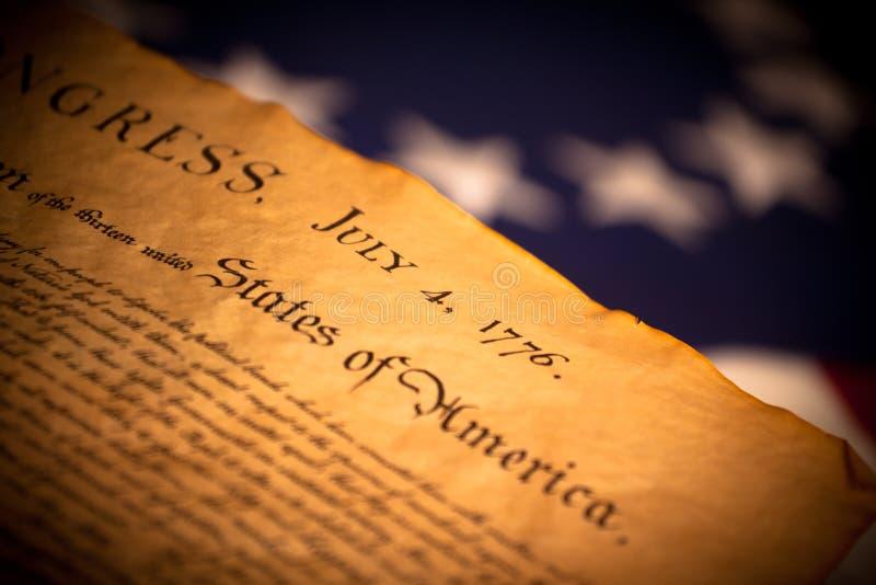 självständighet för bakgrundsförklaringflagga oss arkivfoto