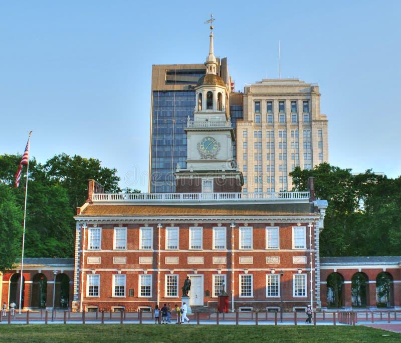 Självständighet Hall i Philadelphia, USA arkivbilder