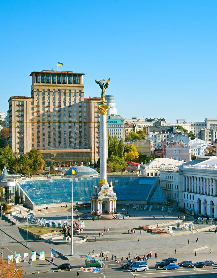 Självständighet kvadrerar Kiev Ukraina arkivfoton