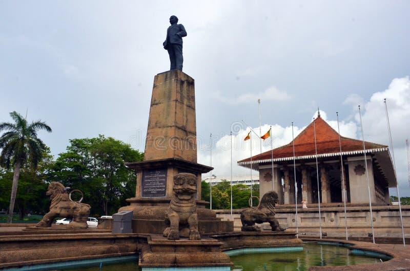 Självständighet Memorial Hall, Sri Lanka arkivbild