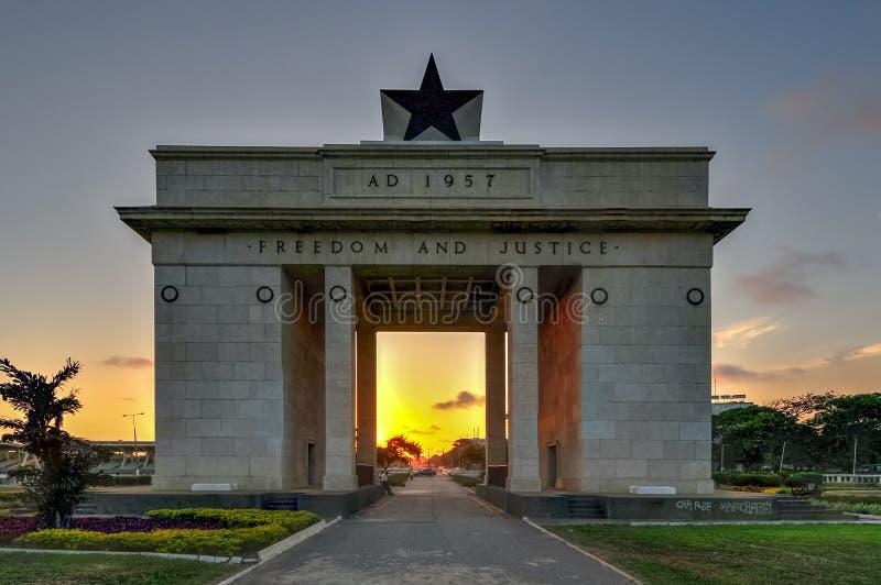 Självständighetbåge, Accra, Ghana royaltyfri fotografi