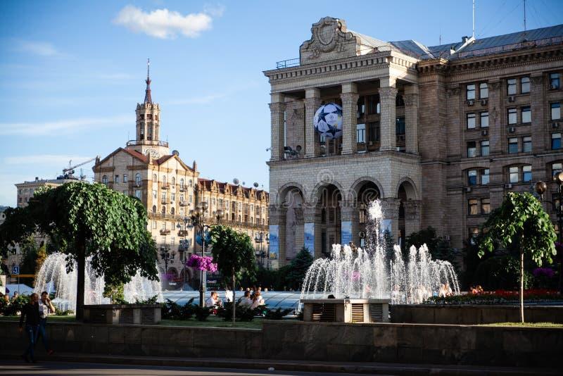 Självständighetfyrkant i Kiev arkivfoto