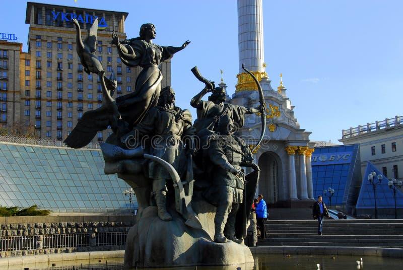 Självständighetfyrkant, Kyiv, Ukraina royaltyfri fotografi