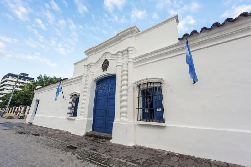 Självständighethus i Tucuman, Argentina arkivbilder