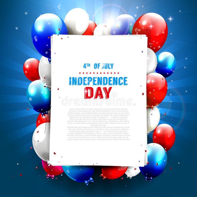 Självständighetsdagen royaltyfri illustrationer