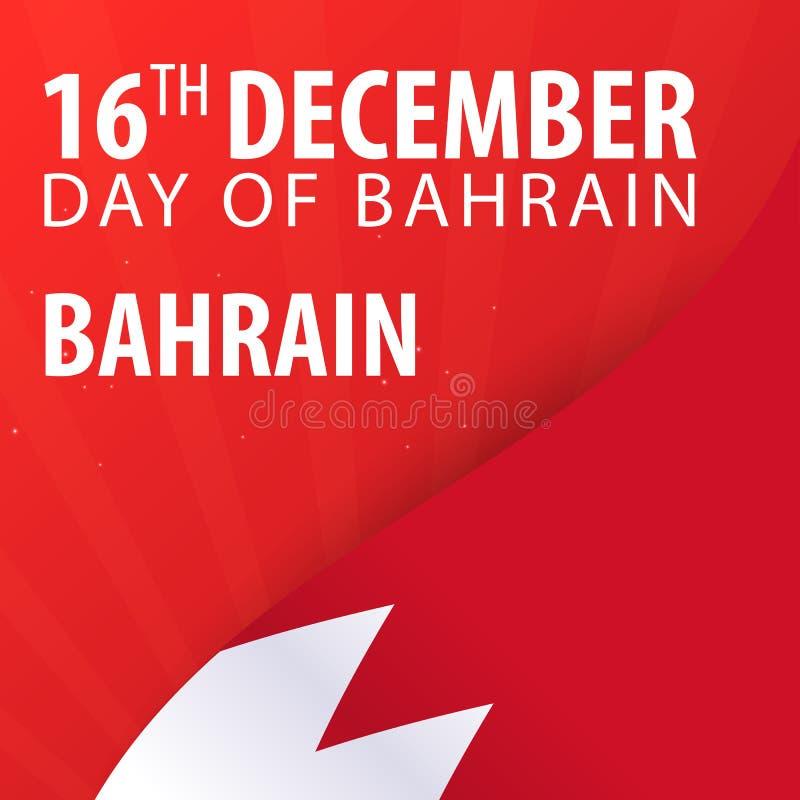 Självständighetsdagen av Bahrain Flagga och patriotiskt baner också vektor för coreldrawillustration stock illustrationer