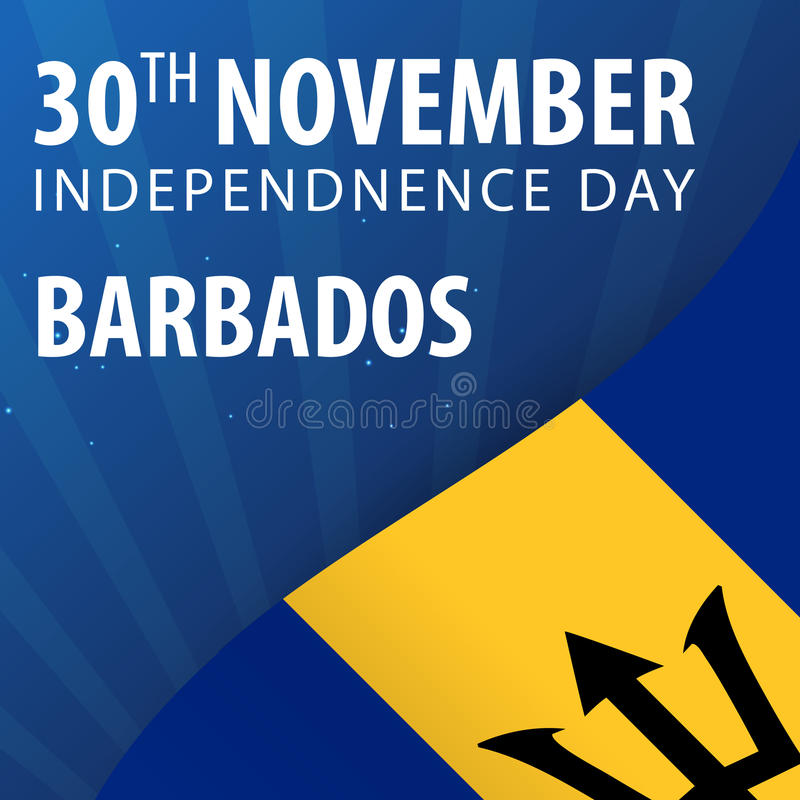 Självständighetsdagen av Barbados Flagga och patriotiskt baner också vektor för coreldrawillustration vektor illustrationer