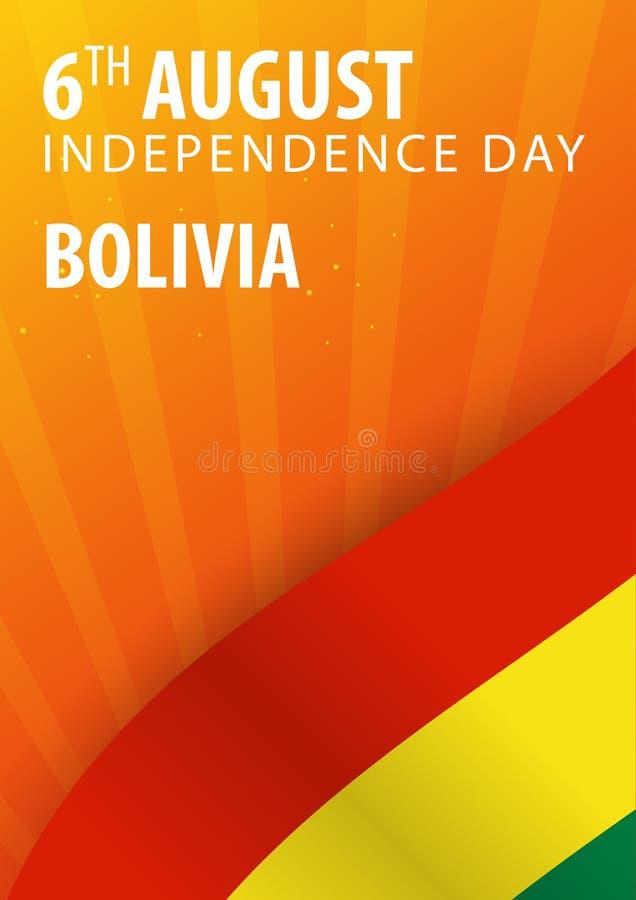 Självständighetsdagen av Bolivia Flagga och patriotiskt baner också vektor för coreldrawillustration stock illustrationer