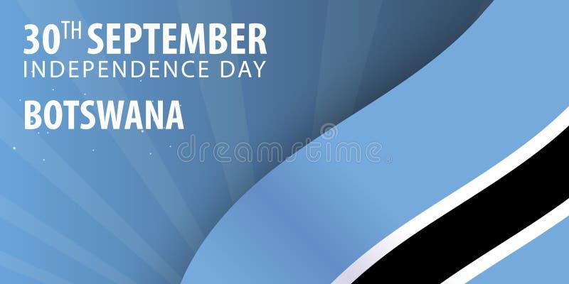 Självständighetsdagen av Botswana Flagga och patriotiskt baner också vektor för coreldrawillustration stock illustrationer