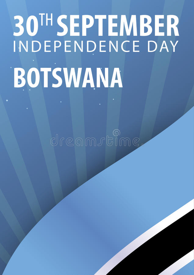 Självständighetsdagen av Botswana Flagga och patriotiskt baner också vektor för coreldrawillustration vektor illustrationer