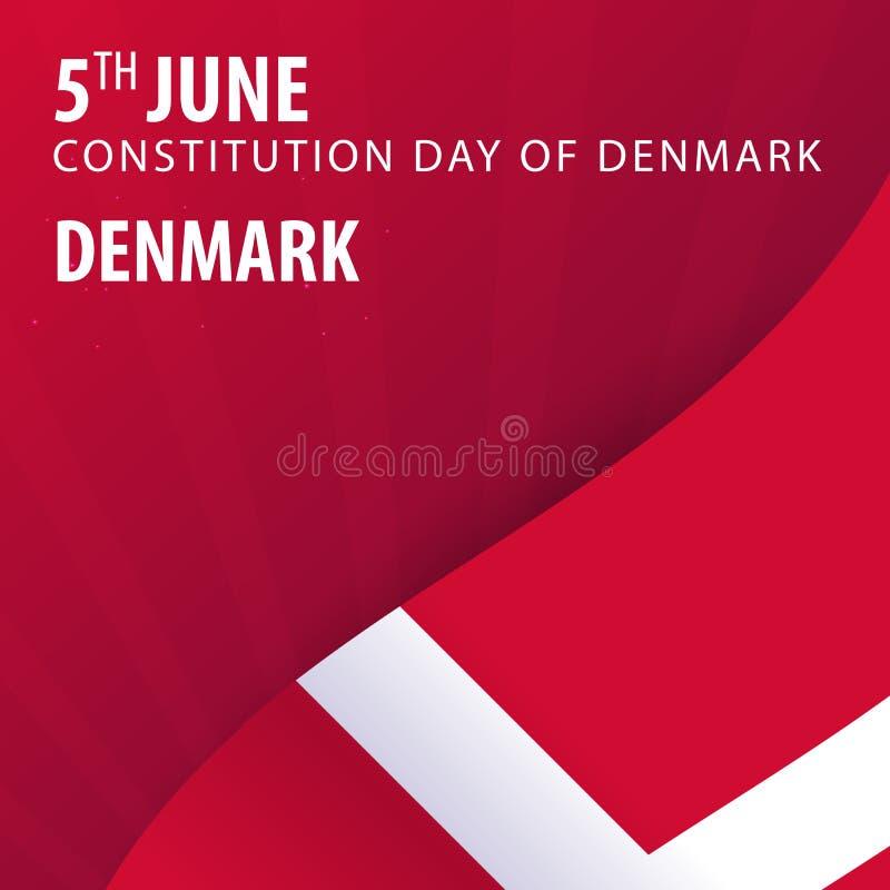 Självständighetsdagen av Danmark Flagga och patriotiskt baner vektor illustrationer