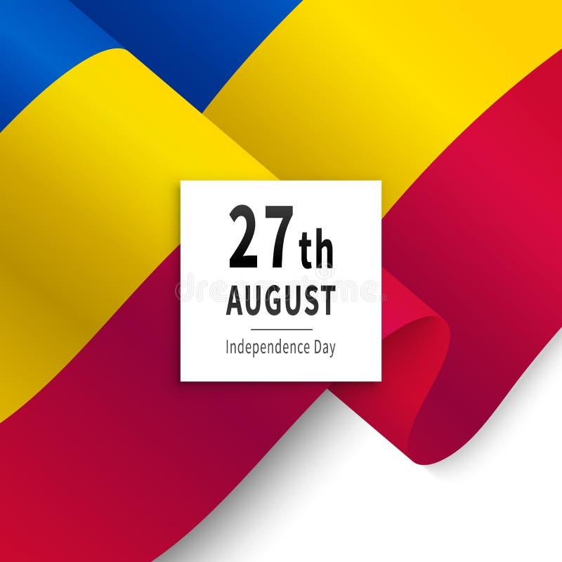 Självständighetsdagen av den Moldavien nationsflaggan stock illustrationer