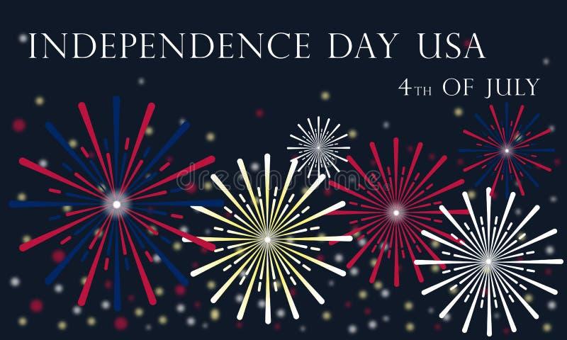 Självständighetsdagen av Förenta staterna Juli 4, 2019 royaltyfri illustrationer