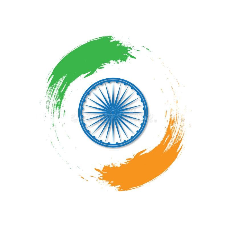 Självständighetsdagen av Indien th 15 av Augusti stock illustrationer