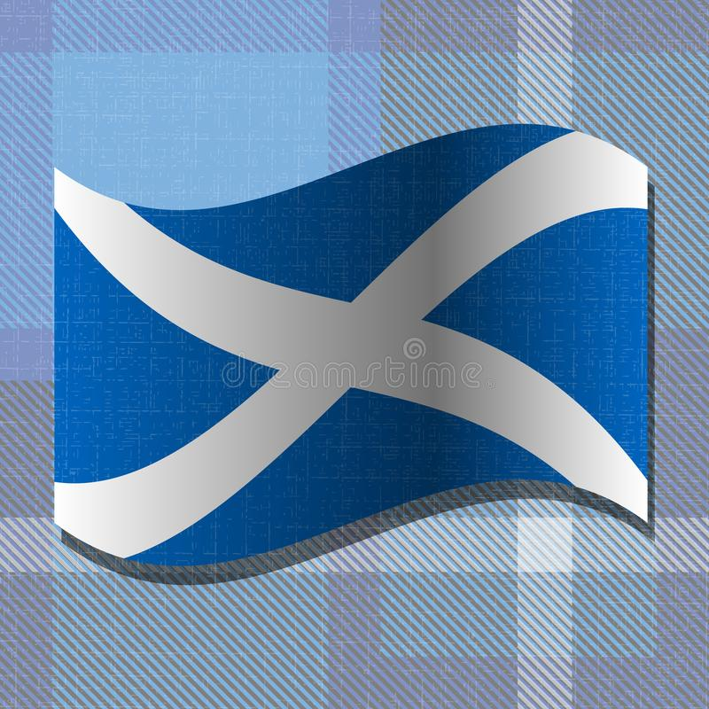 Självständighetsdagen av Skottland 24 Juni flagga scotland royaltyfri illustrationer