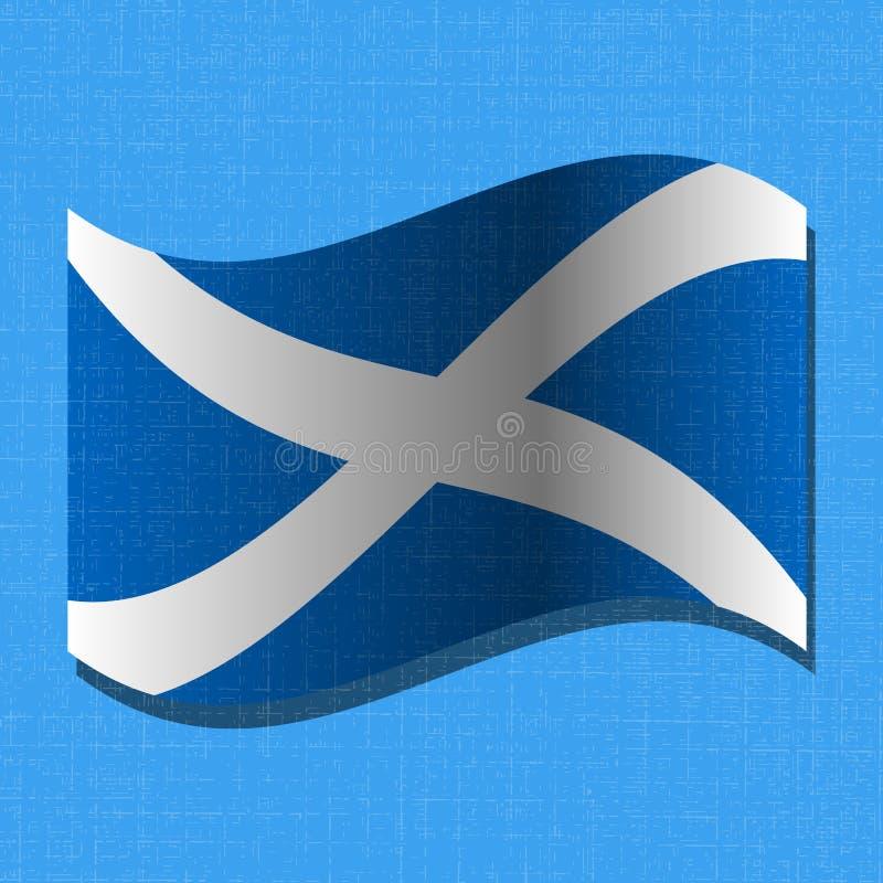 Självständighetsdagen av Skottland 24 Juni flagga scotland Kan användas som en vykort stock illustrationer