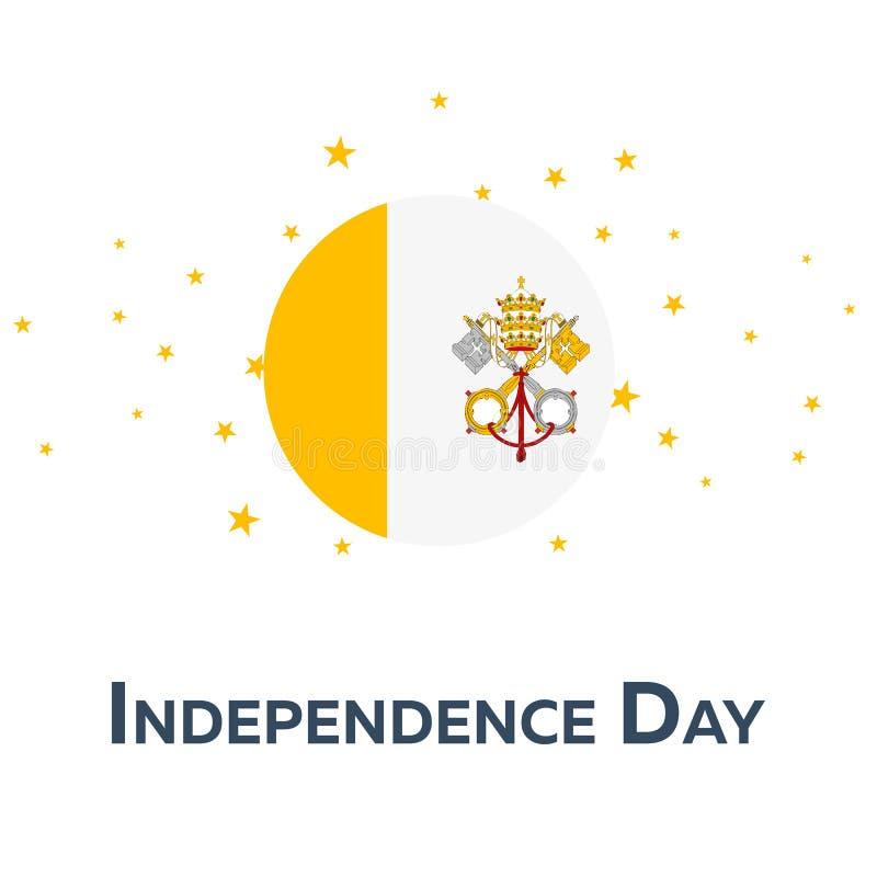 Självständighetsdagen av Vatican City patriotiskt baner också vektor för coreldrawillustration vektor illustrationer