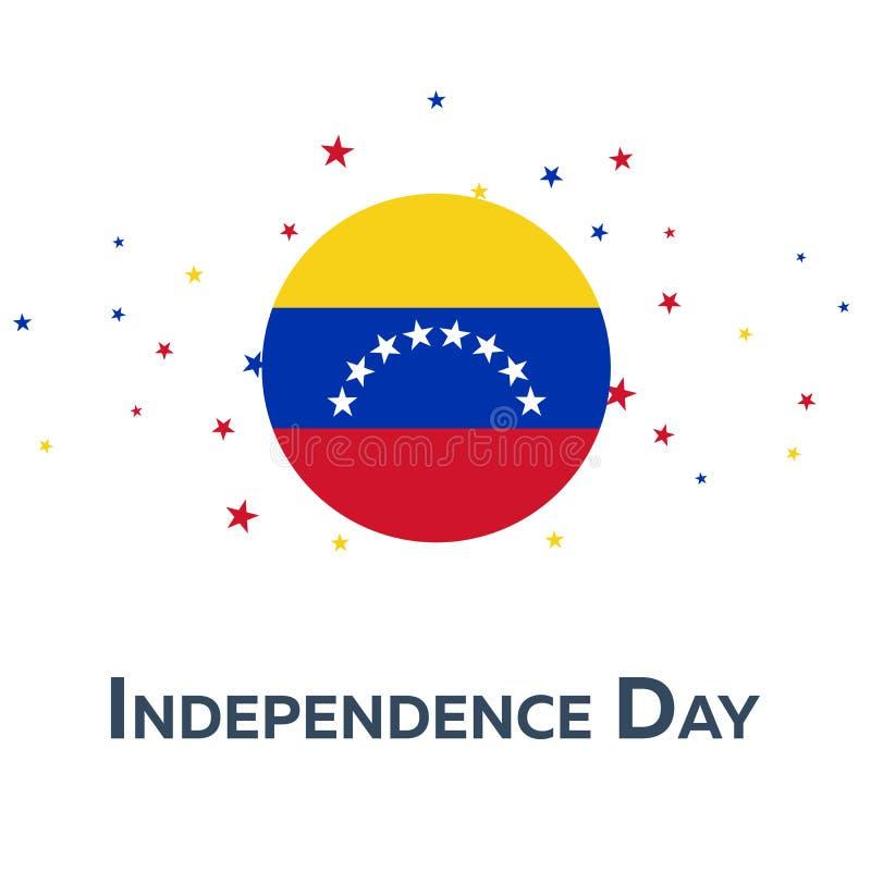 Självständighetsdagen av Venezuela patriotiskt baner också vektor för coreldrawillustration vektor illustrationer