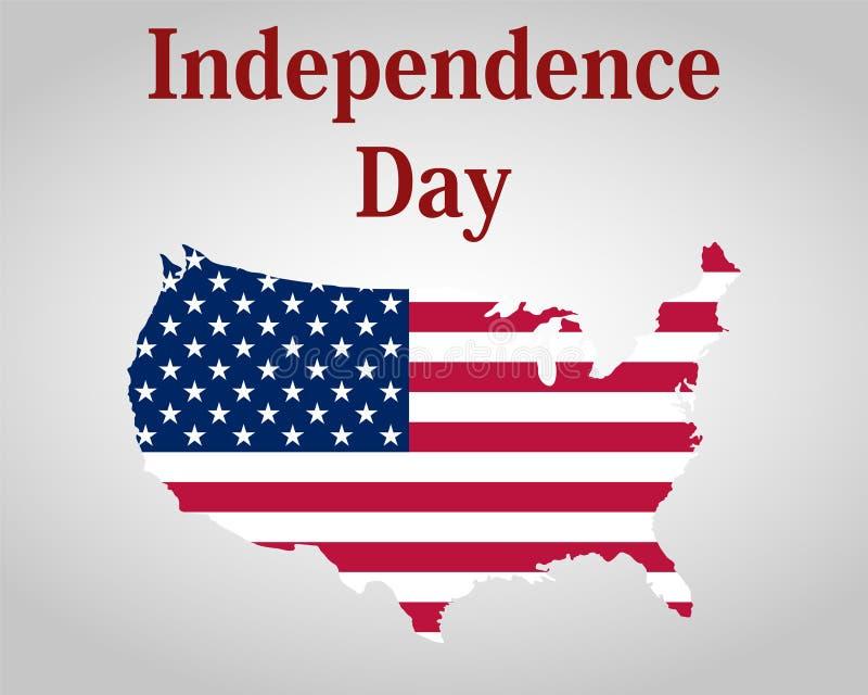 Självständighetsdagen i Amerikas förenta stater vektor illustrationer