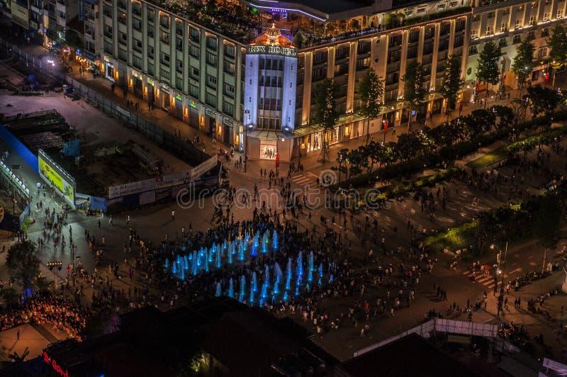 Självständighetsdagen i Ho Chi Minh City, Vietnam, på 02 Septemberet 2016 arkivbild