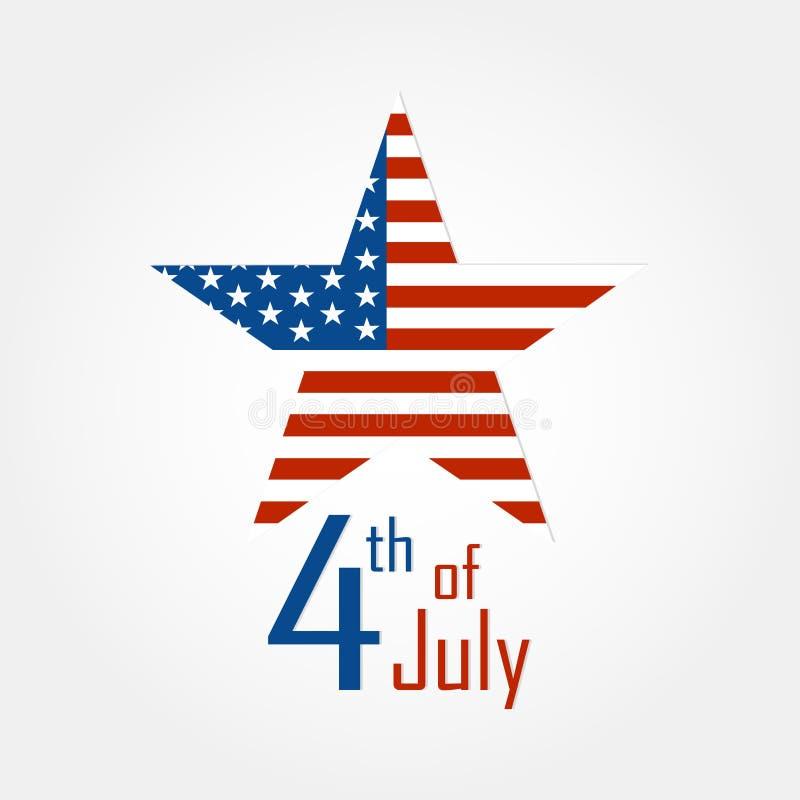 Självständighetsdagen 4th av den juli stjärnan arkivfoto