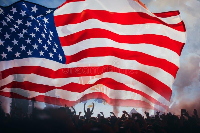 Självständighetsdagen 4th av det Juli begreppet royaltyfri bild