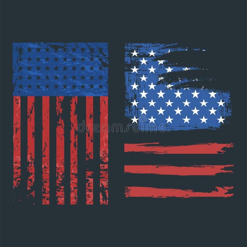 Självständighetsdagen USA sjunker för amerikansk illustrationen för vektorn för tecknet symbolfrihet för Förenta staterna den nat stock illustrationer
