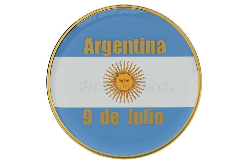 Självständighetsdagenbegrepp Argentina vektor illustrationer