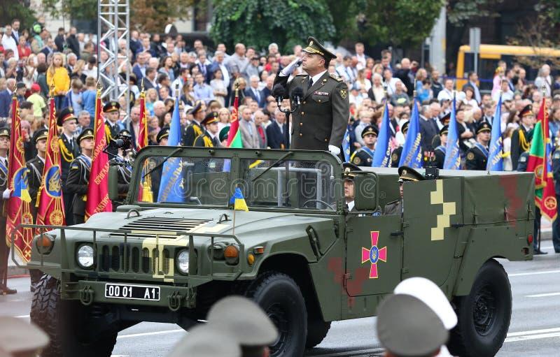 Självständighetsdagenberömmar i Kyiv, Ukraina arkivbild