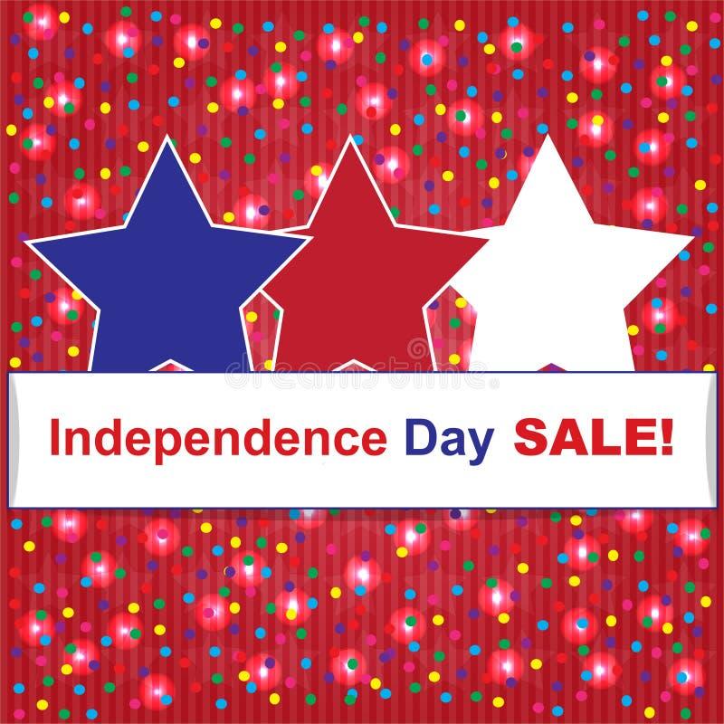Självständighetsdagenförsäljningsbakgrund arkivfoton